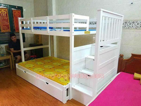 Giường 3 tầng trẻ em 014F Màu Trắng giá rẻ tại TP Hồ Chí Minh